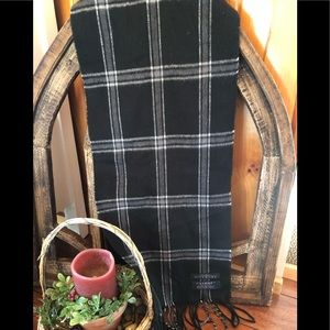 Givenchy white plaid scarf ~ made in Italy